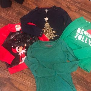 Other - SZ XS/S Long sleeve holiday bundle